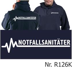 Hoodie navy, NOTFALLSANITÄTER