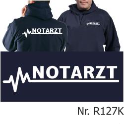 Hoodie navy, NOTARZT