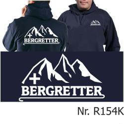 Hoodie navy, BERGRETTER mit Bergmotiv