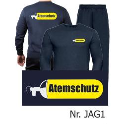 Sweat-Vestimenta para correr azul marino, ATEMSCHUTZ...