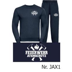 Sweat-Vestimenta para correr azul marino, FEUERWEHR...