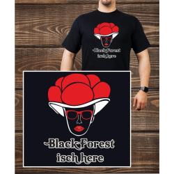 T-Shirt noir, Bollenhut - noir Forest isch here