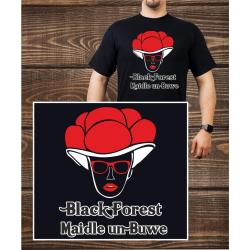 T-Shirt noir, Bollenhut - noir Forest Maidle un Buwe