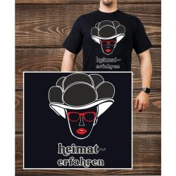 T-Shirt noir, Bollenhut - heimat-erfahren