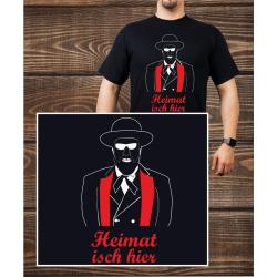 T-Shirt black, Heimat isch hier (m)
