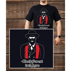 T-Shirt black, Black Forest isch here (m)