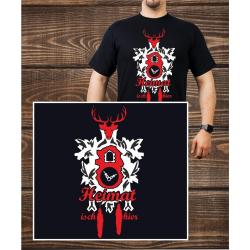 T-Shirt noir, Heimat isch hier, Clock