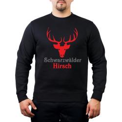 Sweat black, black forest Hirsch
