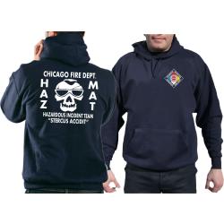 CHICAGO FIRE Dept. HAZ MAT Incident Team, navy Hoodie