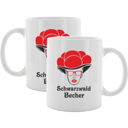 "Tasse: Bollenhutmädle ""black forest Becher"""