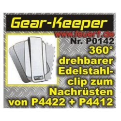 Gear-Keeper: Equipment Edelstahlclip für P4422, P4412