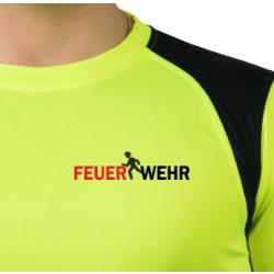 """Laufshirt neonyellow/black, FEUERWEHR """"We run for..."""