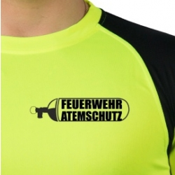 Laufshirt neonyellow/black, FEUERWEHR ATEMSCHUTZ G26,...