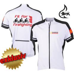 Bike-Shirt white, full-Zip, breathable, Stauferlöwe...