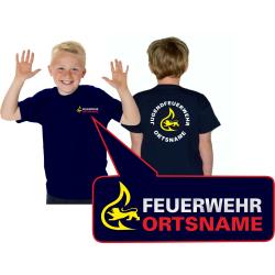 Kinder-T-Shirt marin, BaWü avec Stauferlöwe...