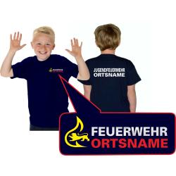 Kinder-T-Shirt marin, BaWü Stauferlöwe...