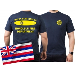 T-Shirt navy, SURF RESCUE, Honolulu.(Hawaii)