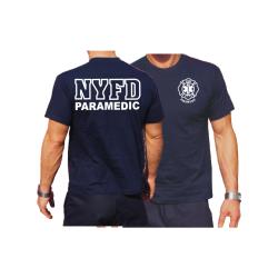 T-Shirt navy, NYFD PARAMEDIC Einzelstück