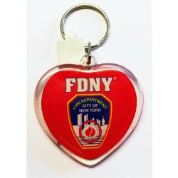Schlüsselanhänger FDNY-Herzform, offiziell...