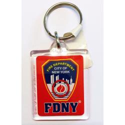 Schlüsselanhänger FDNY-rechteckig (rojo),...