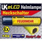 """UK 4AAeLED Zoom neongiallo Heckschalter """"FEUERWEHR"""" inkl. 4AA DURACELL Batterien, 90 Lumen"""