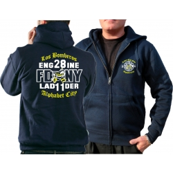 Hooded jacket navy, New York FD, Los Bomberos E-28