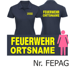 """Women Polo navy font """"A"""" with place-name, font:..."""