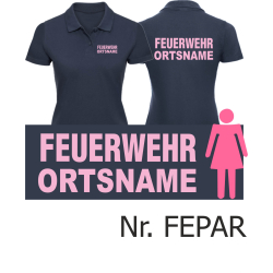"""Women Polo navy, font """"A"""" with place-name,..."""