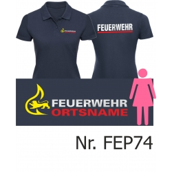 Women Polo navy, BaWü-Stauferlöwe vorne,...