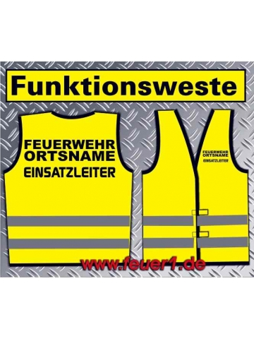 Funktionsweste giallo con nero Text