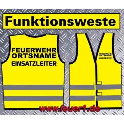 Funktionsweste amarillo con negro Text