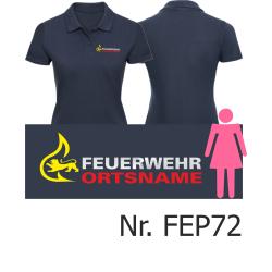 Women Polo navy, BaWü-Stauferlöwe with...