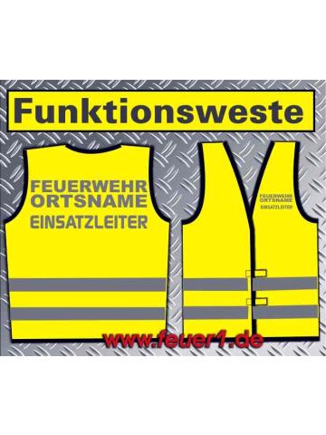 Funktionsweste giallo, argento-riflettentem Text