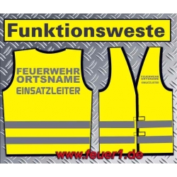 Funktionsweste yellow, silver-reflectivem Text
