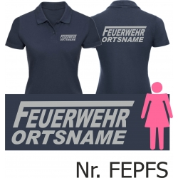 """Women Polo navy, font """"F"""" with place-name,..."""