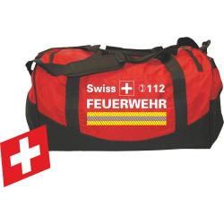 """Medium-Feuerwehrtasche """"SWISS FEUERWEHR"""" weiss,..."""