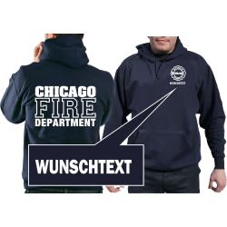 CHICAGO FIRE Dept. con Wunschnombres, azul marino Hoodie