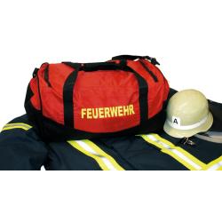 Medium-Feuerwehrtasche red, yellow font FEUERWEHR