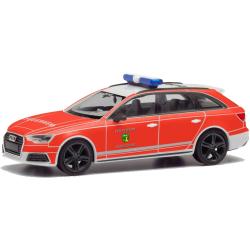 Model car 1:87 Audi A4 Avant, KdoW 21/10/1, FF Cadolzburg...
