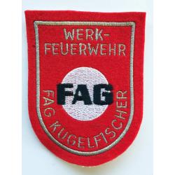Abzeichen Werkfeuerwehr FAG Kugelfischer