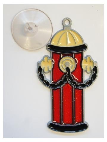 Glasbild Hydrant 12 cm hoch