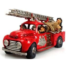 """Handbemalte Skulptur """"Feuerwehreinsatz"""" 3,94 kg..."""