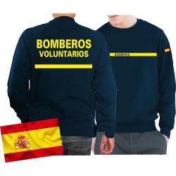 Sweat (navy/azul) BOMBEROS VOLUNTARIOS, bandera...