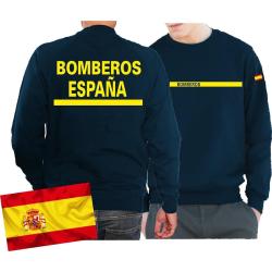 Sweat (navy/azul) BOMBEROS ESPAÑA, bandera...