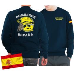 Sweat (navy/azul) BOMBEROS ESPAÑA, casco amarillo,...
