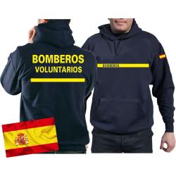 Hoodie (navy/azul) BOMBEROS VOLUNTARIOS, bandera...