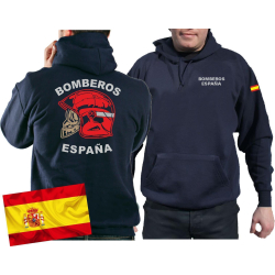 Hoodie (navy/azul) BOMBEROS ESPAÑA, bandera...