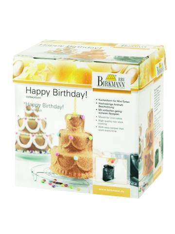 "Backform ""Happy Birthday"" con Rezepten"