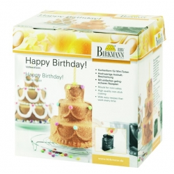 "Backform ""Happy Birthday"" with Rezepten"