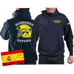 Hoodie (navy/azul) BOMBEROS ESPAÑA, casco...